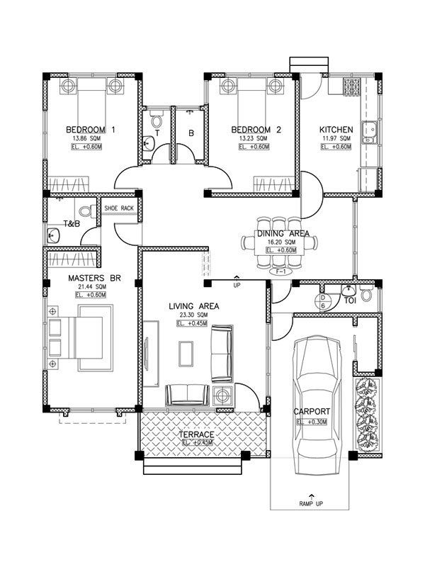 3 Bedroom Houses For Rent In Hot Springs Ar: Small-house-design-2015017-floor-plan