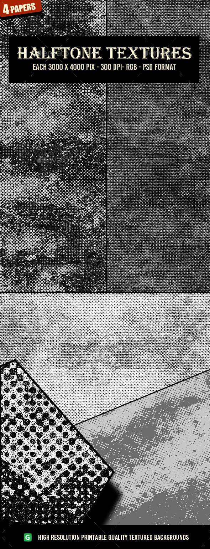 Monochrome Halftone Textures 59   Monochrome, Psd templates and ...