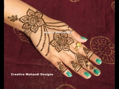 Henna Tattoo Tutorial : Henna hand designs art lesson make a unique self portrait u