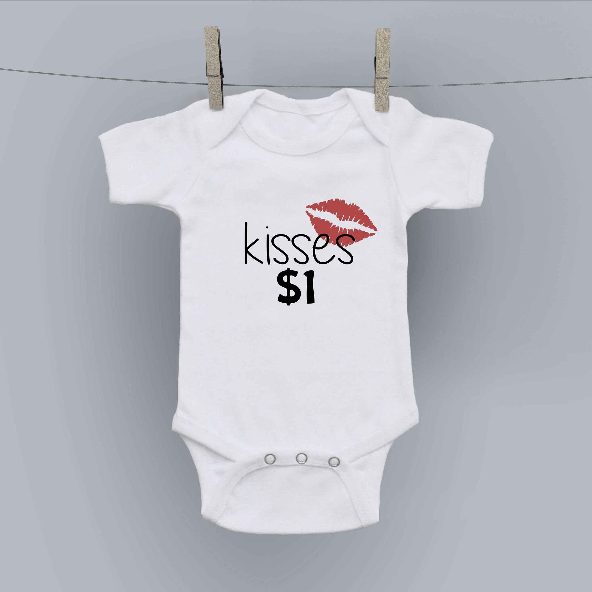 Hilariously Cute esie Kisses $1