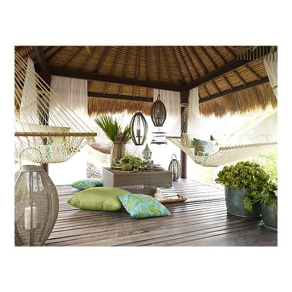 Hammock Meditation Space Outdoor Patio Furniture Pillows Outdoor Living