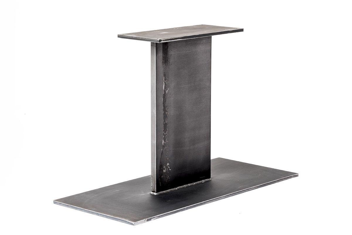 Tischgestell Mittelfuss Flachstahl Nach Mass Holzpiloten In 2020