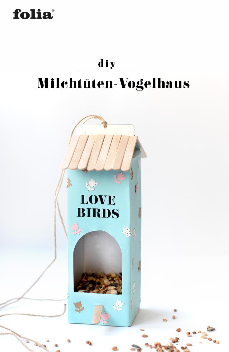 DIY Vogelaus aus Milchtüten & Tetrapacks basteln I Upcycling I Mit Anleitung & Bastelvorlage