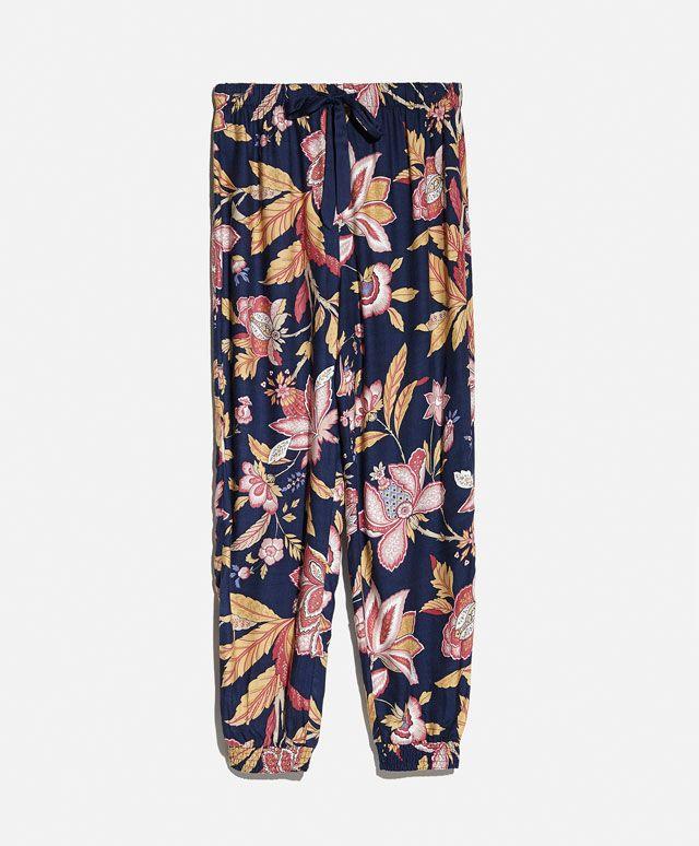Pantaloni fiore indiano - OYSHO