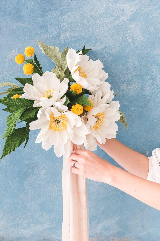 Paper flower wedding bouquet paper flower wedding bouquets flower paper flower wedding bouquet izmirmasajfo