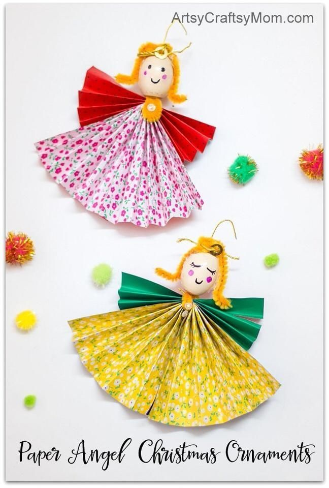 How To Make Paper Angel Christmas Ornaments Christmas