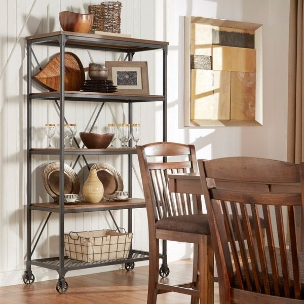 nelson industrial modern rustic 40 inch bookcase by tribecca home overstockcom shopping - Overstock Bookshelves