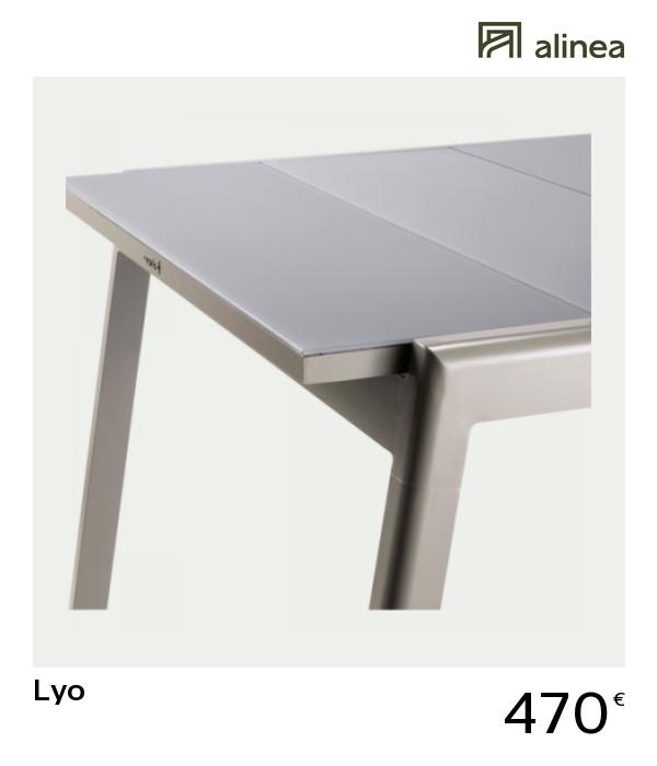 alinea #decoration lyo table de jardin extensible kaki en ...
