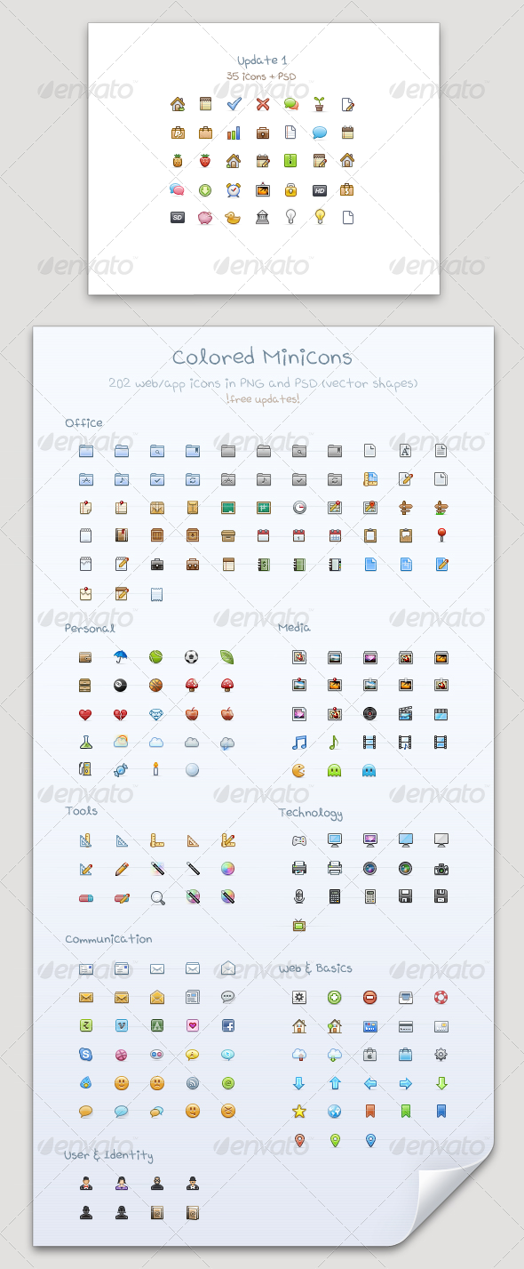 Colored Minicons Professional Pixels For Web App Web App Color Web Icons
