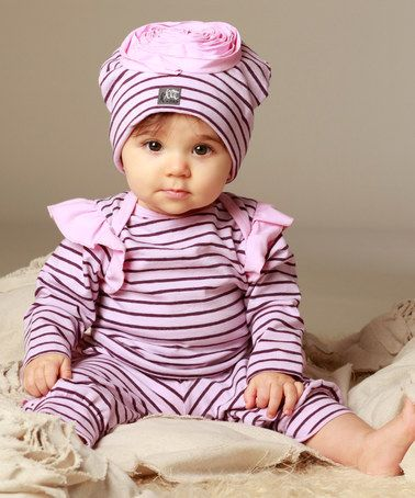 Another great find on #zulily! Rose & Plum Ginger Tee & Ruffle Leggings - Infant #zulilyfinds