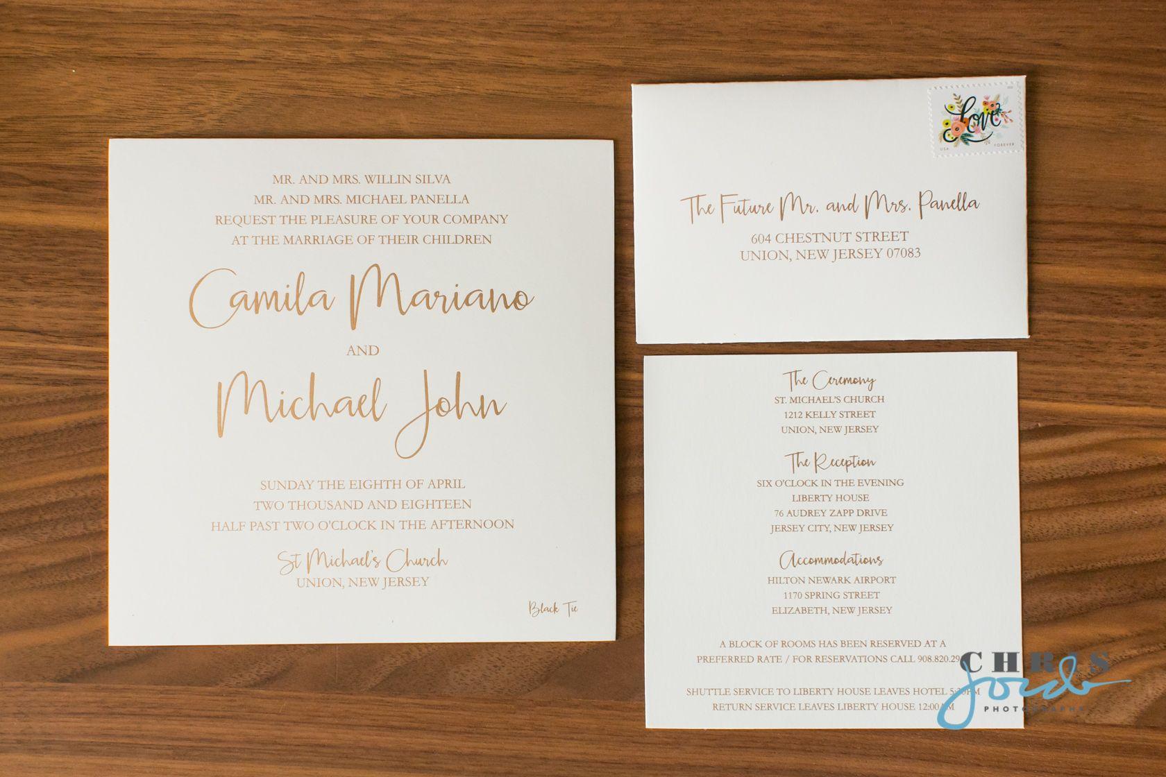 Camila Michael 4 8 Chris Jorda Photography Simple Wedding Invitations Wedding Invitations City Wedding