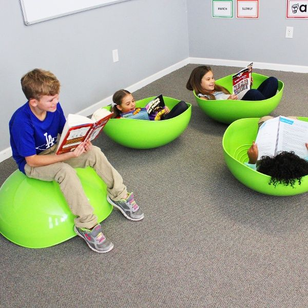 Kinesthetic Classrooms with Standing Desks, Flexible Seating, Wobble Chairs, Pedal Desks and bike desks allow for modern classrooms and collaborative learning