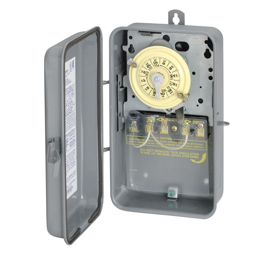 Intermatic Mechanical Residential Hardwired Timer T104rd89 In 2020 Pool Heater Home Depot Swimming Pools