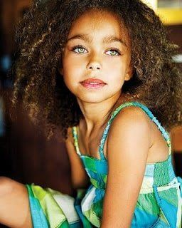Family Unit Mixed Girl Curly Hair Beautiful Children Beautiful