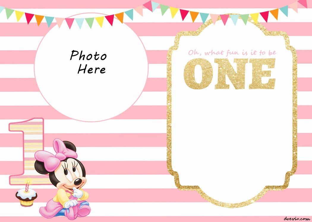 Minnie Mouse Blank Invitation Template Inspirational Free