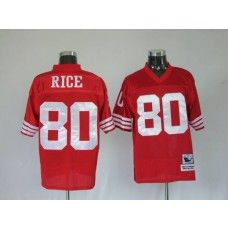 720bcca9438 Mitchell and Ness 49ers Jerry Rice  80 Stitched Red NFL Jersey