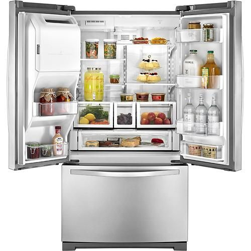 Best Buy Whirlpool 25 Cu Ft French Door Refrigerator With Thru The Door Ice And Water Stainless Steel Wrf736sdam Refrigerator Brands Best Refrigerator Brands Best Refrigerator
