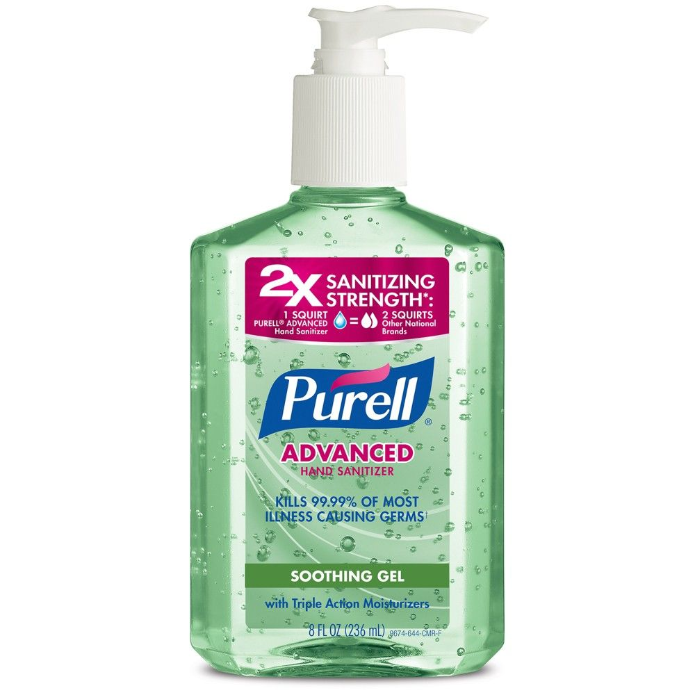 Purell Advanced Hand Sanitizer 12 Oz Ethyl Alcohol Gel 3659 12
