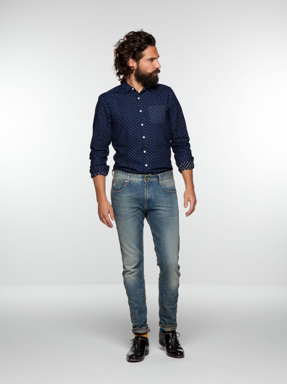 Lot 22 indigo shirt | Shirt l/s | Men's Clothing at Scotch & Soda