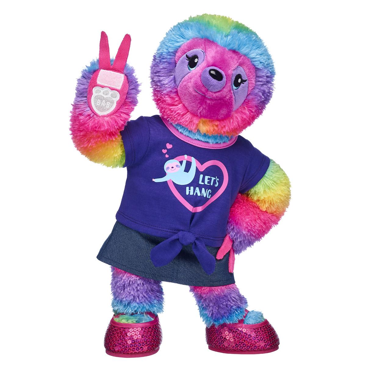 Rainbow Stripes Sloth Let s Hang Gift Bundle Build A Bear ca25fd1e0