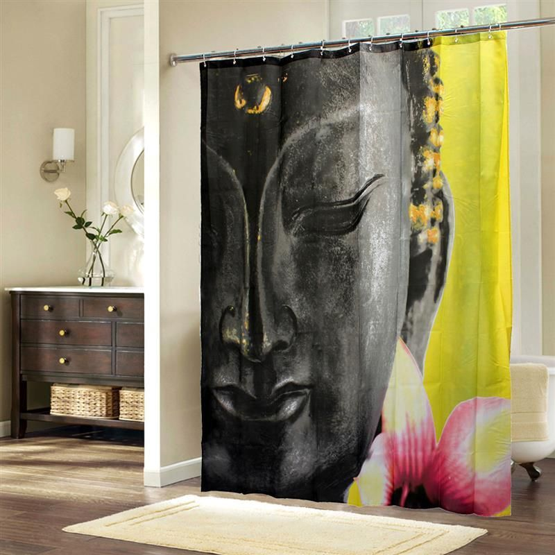 Mindful Buddha Shower Curtain Curtains Pattern Fashion Buddha