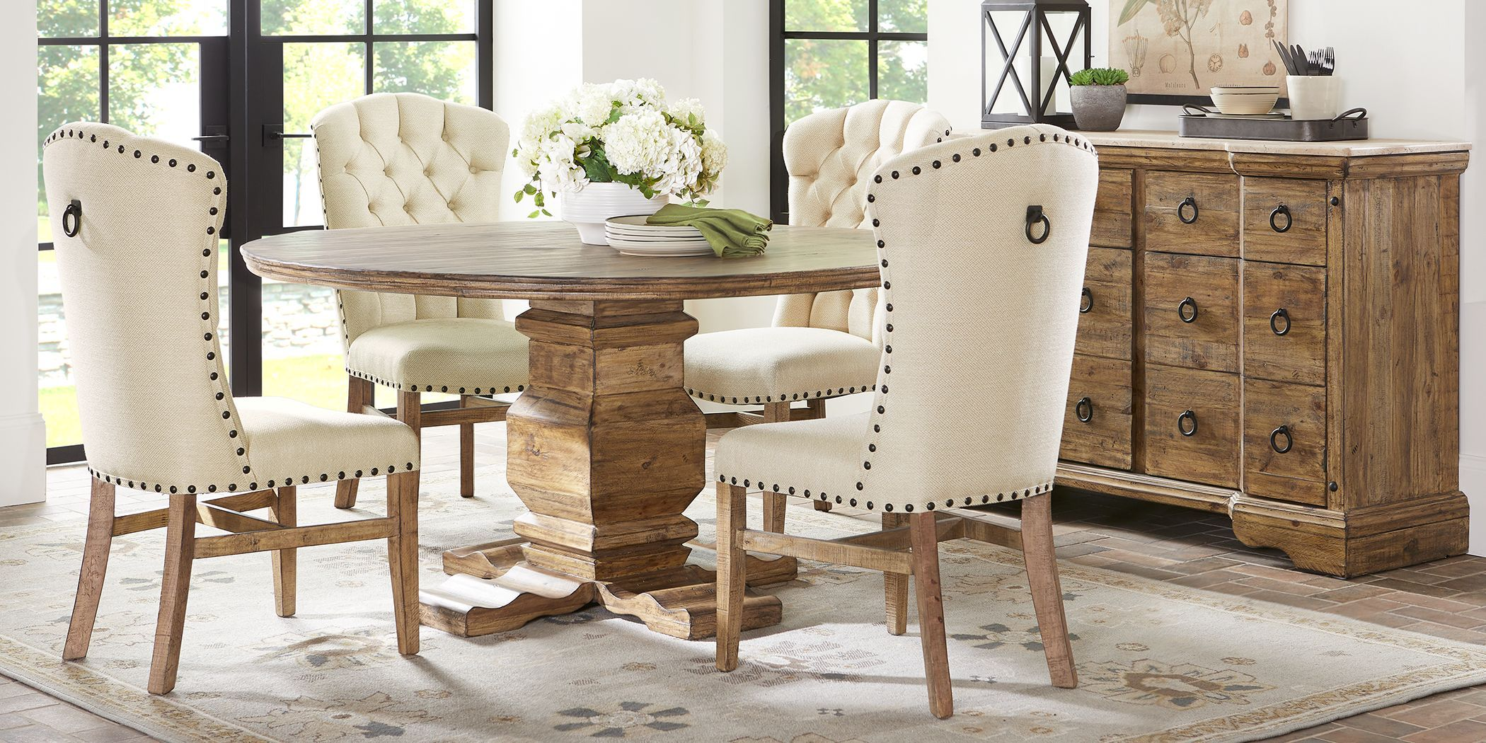Canyon City Tan 5 Pc Dining Room Rustic Dining Room Table Dining Room Table Set Tan Dining Rooms