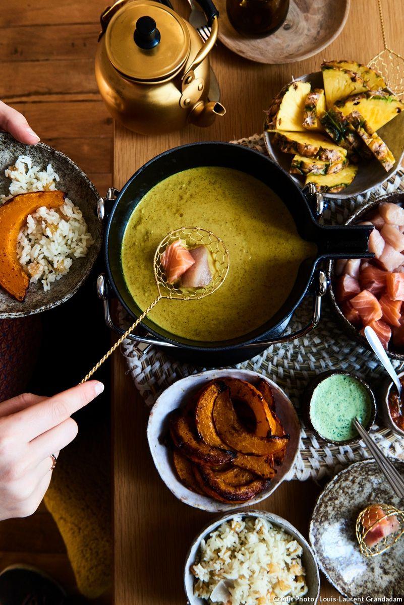 Fondue indienne #fondue