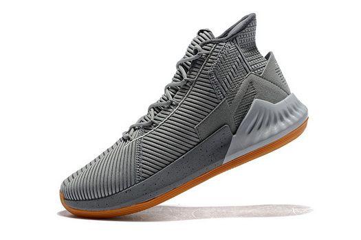 hot sales e735d d7c6b Adidas D Rose 9 Grey White Gum Bb7159 Factory Authentic 2018 Shoe