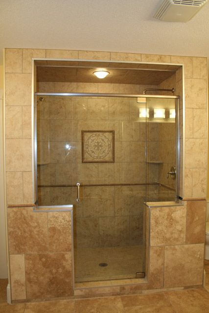 Custom Walk In Showers custom walk in showers |  with granite counter top and large