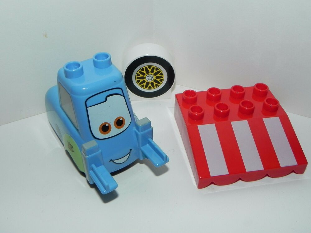 Lego Duplo Disney Cars 5818 Parts Guido Forklift Tire Pattern