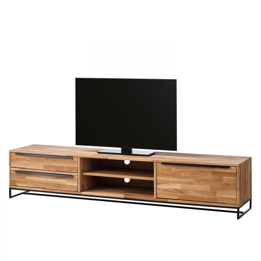 fabulous tvlowboard valenje ii eiche massiv metall eiche schwarz with lowboard tv schwarz