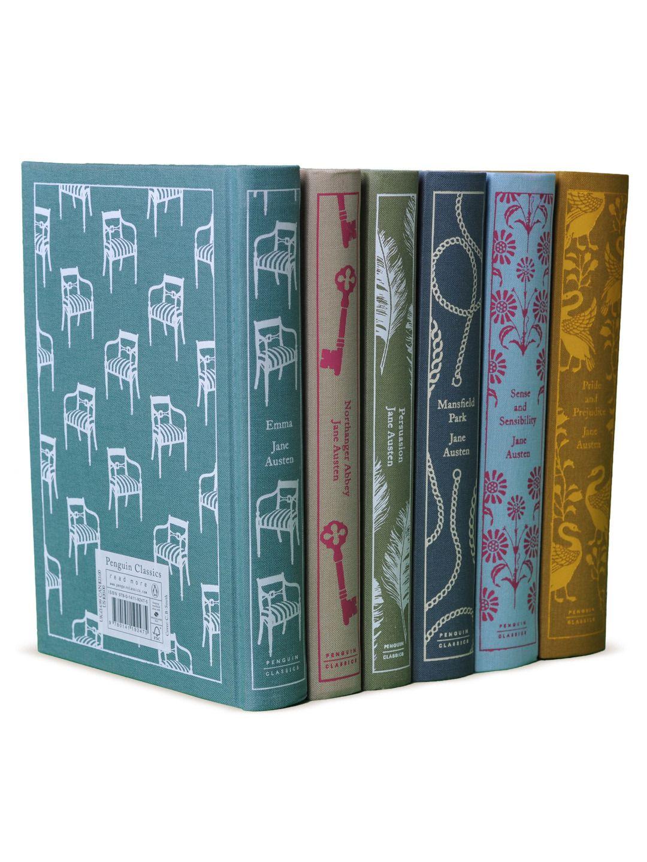 Jane Austen Penguin Classics (Set of 6) - Gilt Home - Sense and Sensibility, Emma, Pride and Prejudice, Mansfield Park, Northhanger Abbey and Persuasion.