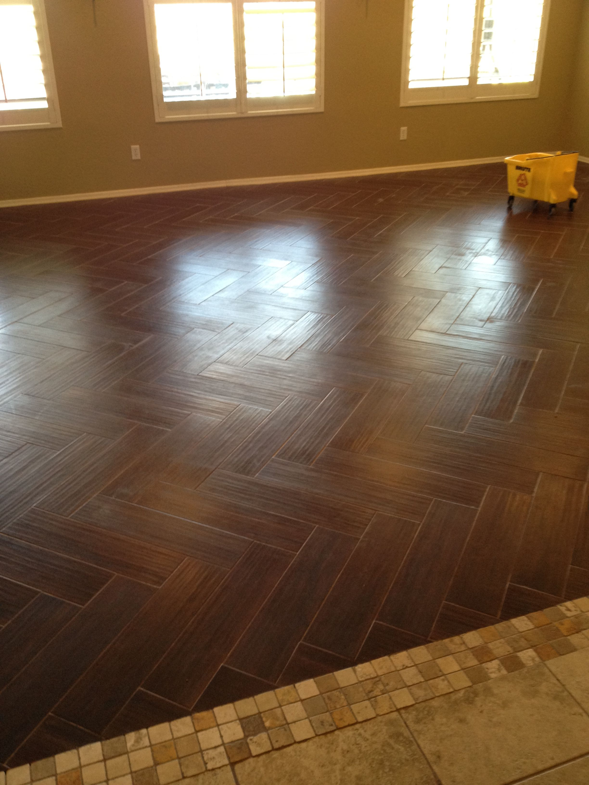 Porcelain Tile That Looks Like Hardwood Floors Update Living Room Is Done Moving On To The
