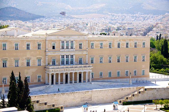 Parlement grec, Athènes, Grèce.