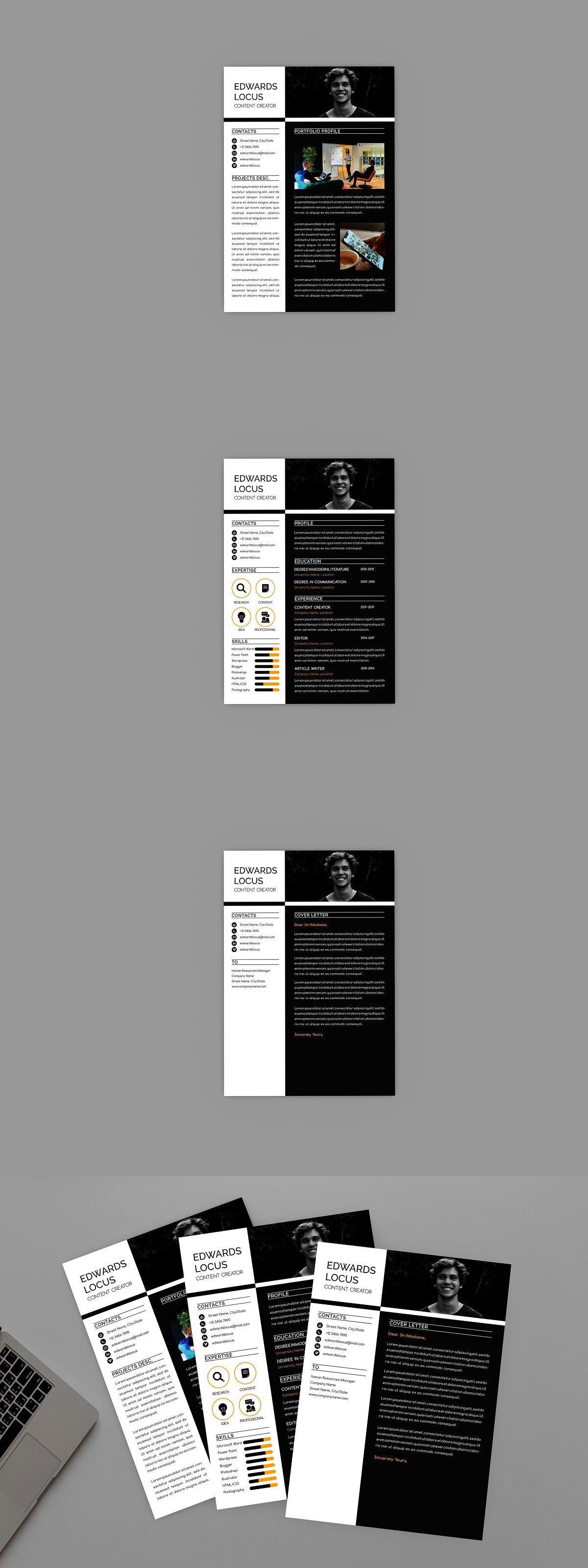 Content creator resume designer the creator resume