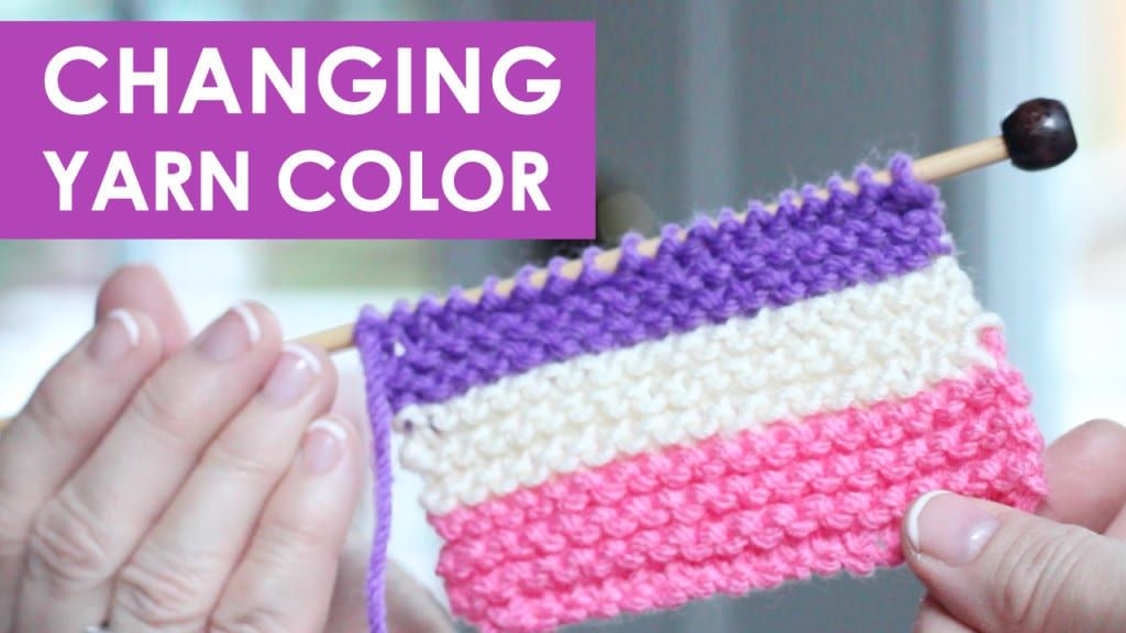 How to change yarn colors while knitting with images