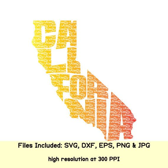 California Home State Svg File Svg Files For Cricut Silhouette Svg Designs Cut Files United States Usa Map Svg Cutting File Eps Dxf Files