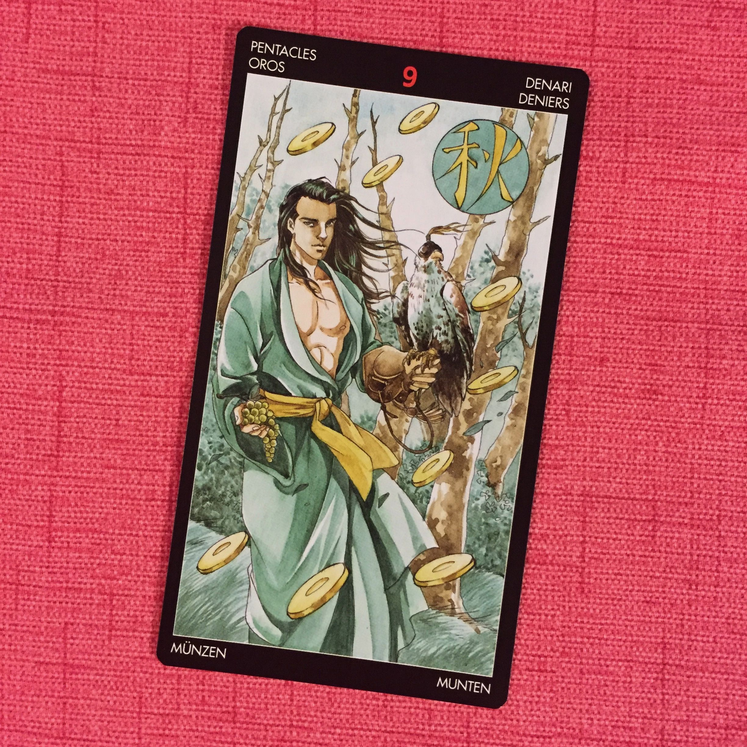 8 Sep 9 Of Pentacles From Manga Tarot From Lo Scarabeo You Are Good