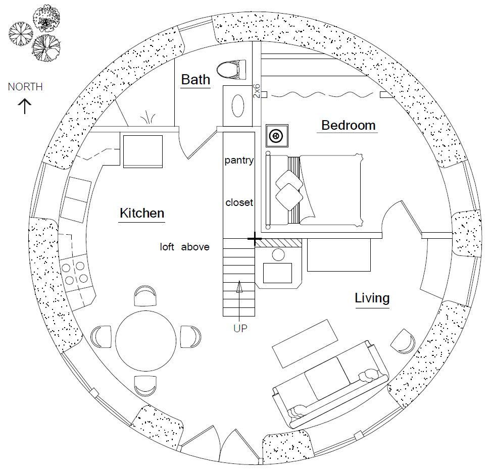 House design round - Hobbit House Hobbit Houseshouse Floor Plansround