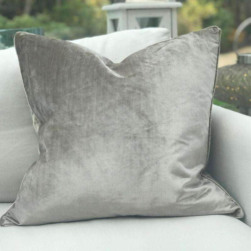 Luxury Dark Mink Velvet Throw Pillow