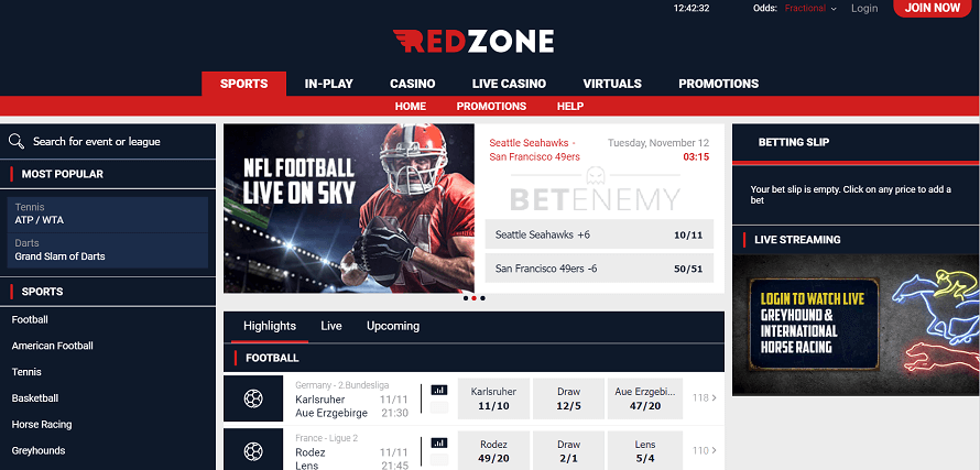 RedZone Sports is one of the favourite betting websites of