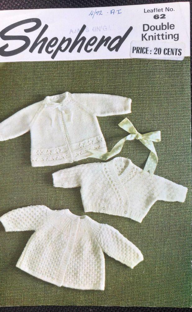 Baby Matinee Coats & Cardigan Shepherd 62 knitting pattern DK 8 ply ...