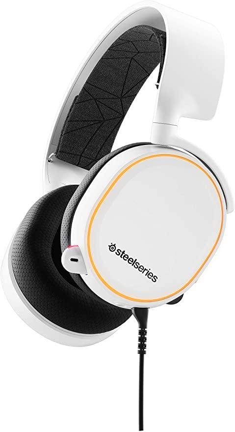 Amazon Com Steelseries Arctis 5 Rgb Illuminated Gaming Headset With Dts Headphone X V2 0 Surround For In 2021 Gaming Headset Steelseries Wireless Gaming Headset