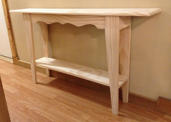 Skinny Sofa Table Tv Stand Entry Pine Unfinished 99 Plus Shipping Costs Custom Sizes Available 28 Tall 47 Wide 9 Deep