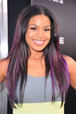 Fun Hair Colors Celebrities With Purple Hair Color Hair Color Purple Purple Hair Highlights Hair Highlights