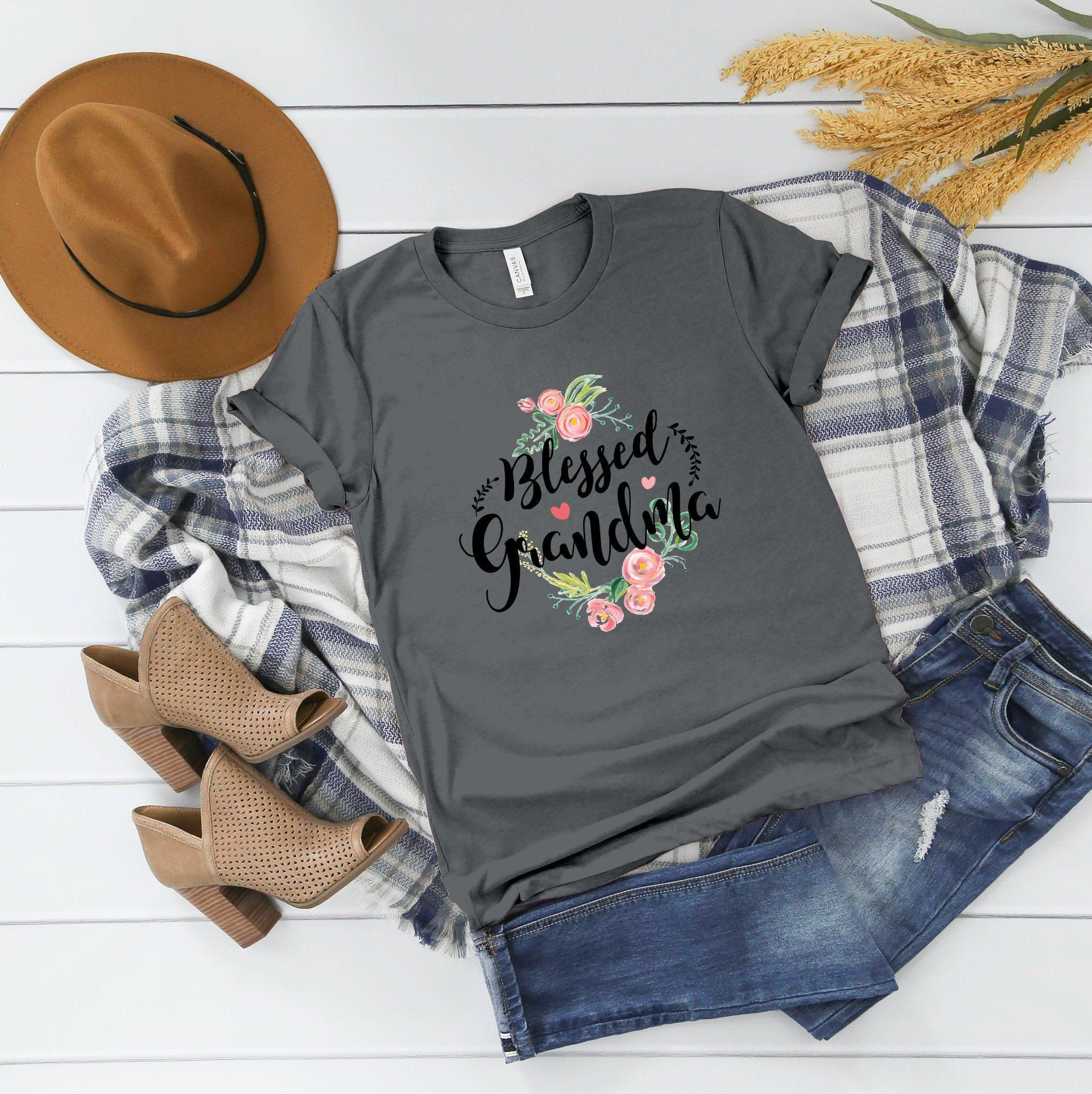 Blessed Grandma tshirt, Grandparents shirt, shirt for Grandparents, Mothers Day Gifts, Gift Shirt for Grandma, Grandparents Day T-shirt, T-S #grandparentsdaygifts