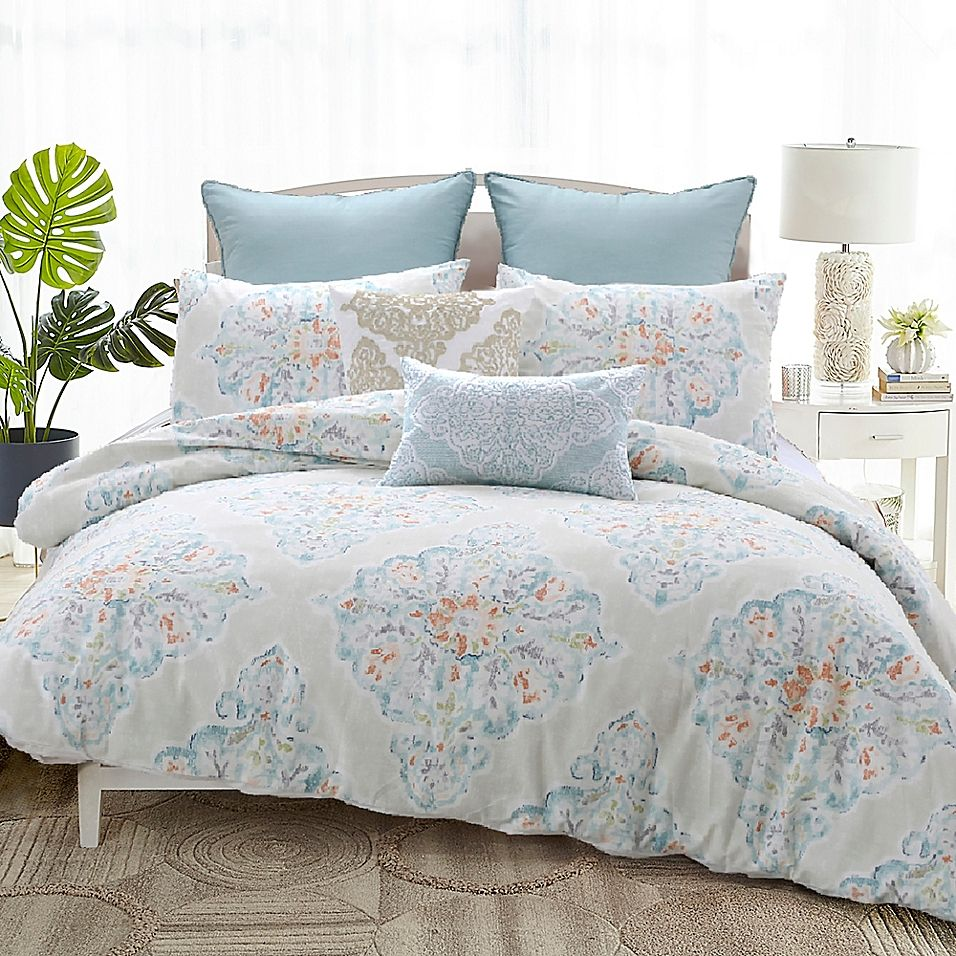 Florentine Queen Duvet Cover Set In Ivory Comforter Sets Duvet Cover Sets King Duvet Cover Sets