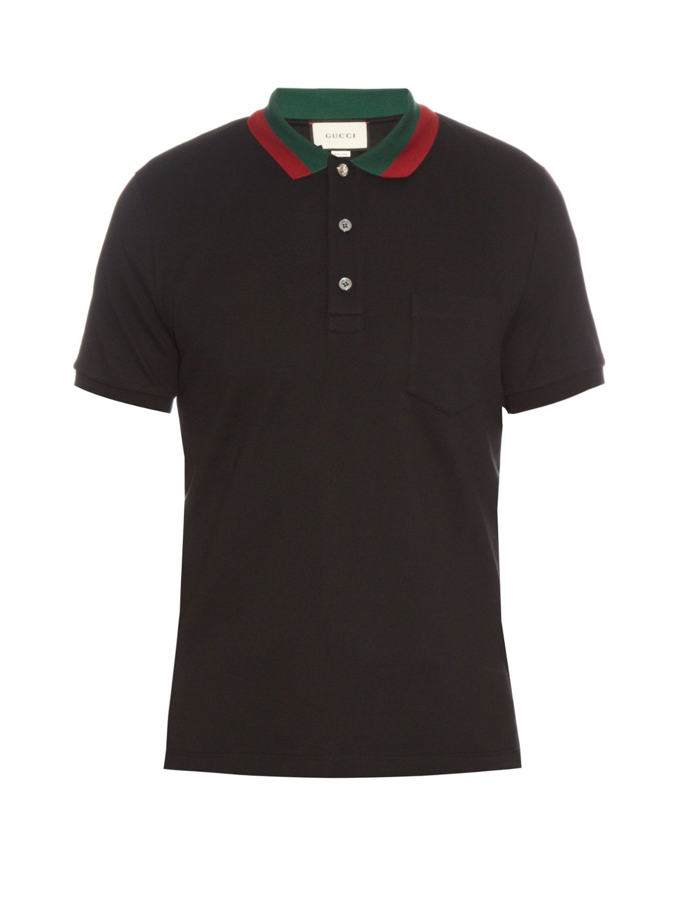6187d1079 Contrast-collar cotton-blend piqué polo shirt | Gucci | MATCHESFASHION.COM