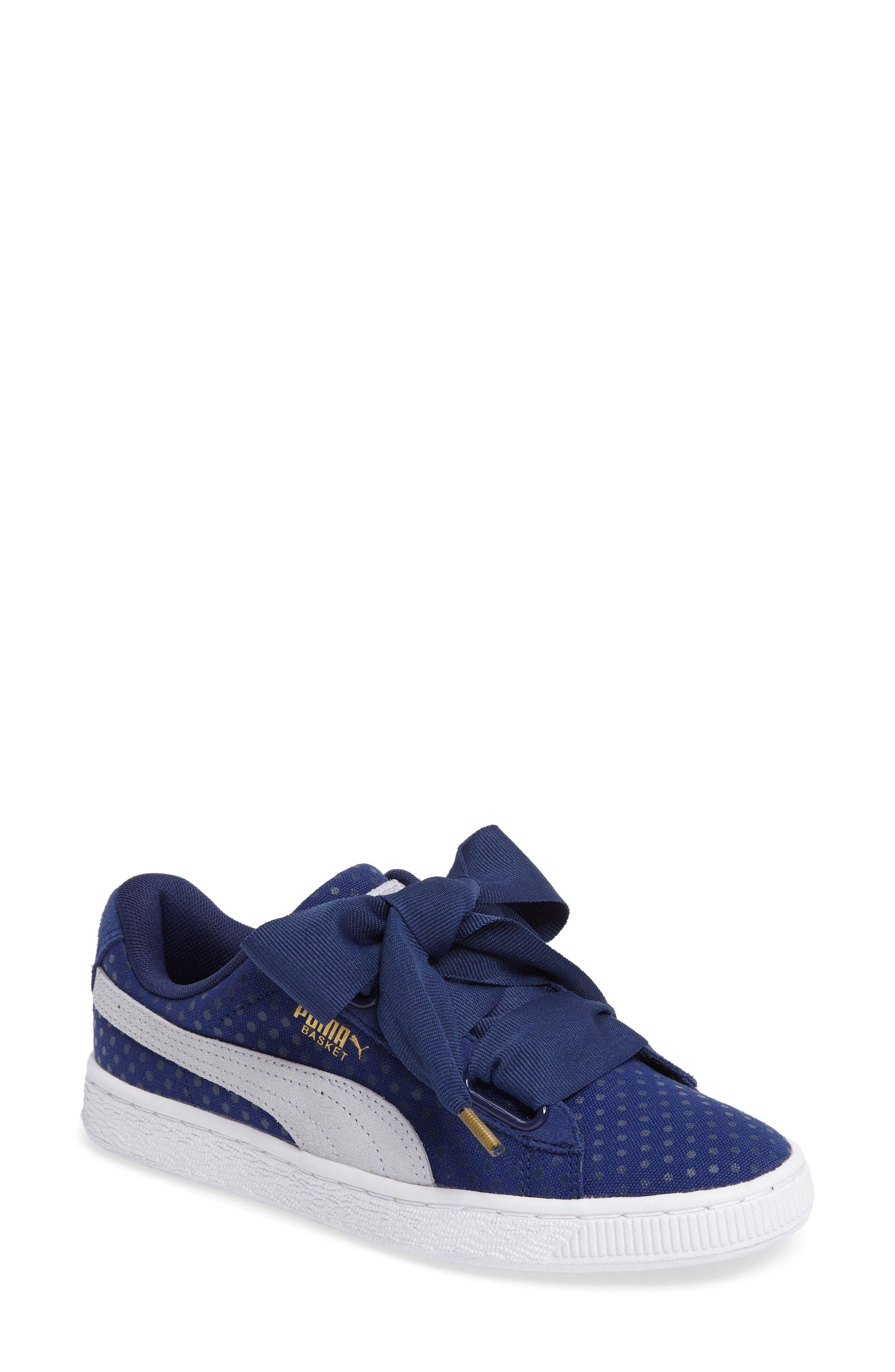 promo code 74ca5 2646a Shop Puma Women'S Basket Heart Denim Casual Sneakers From ...