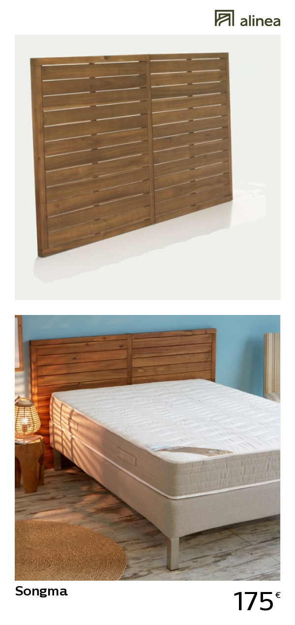 alinea songma tete de lit en acacia